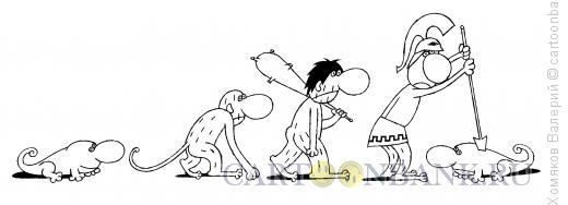 Карикатура: Эволюция, Хомяков Валерий