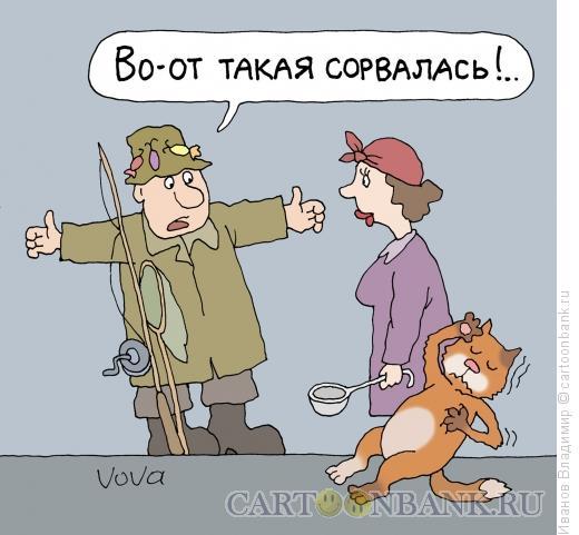 Карикатура: Впечатлительный кот, Иванов Владимир