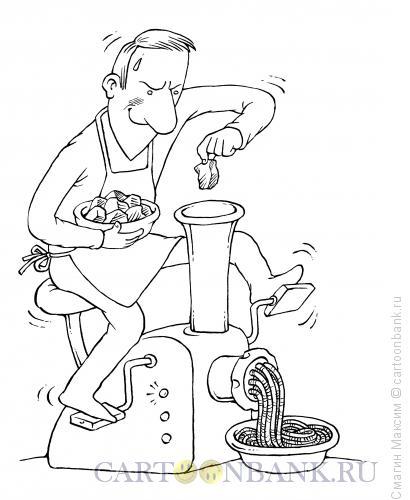 Карикатура: Мясотренажер, Смагин Максим