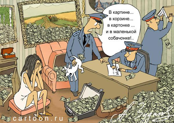 Карикатура: Дама сдавала в багаж..., Зудин Александр