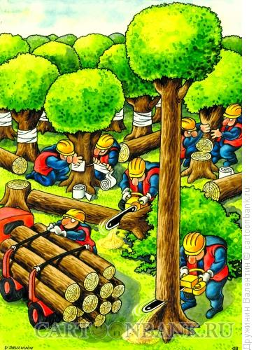 Карикатура: Рационализация., Дружинин Валентин