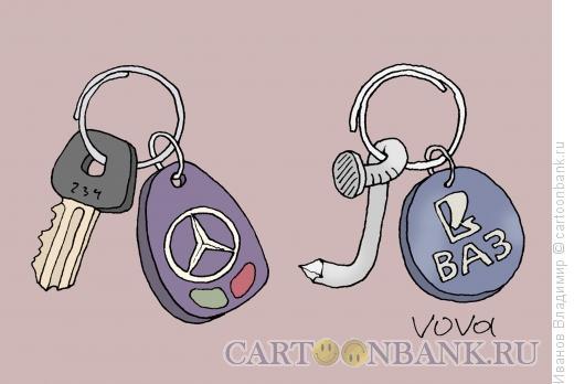 Карикатура: Ключи от машины, Иванов Владимир