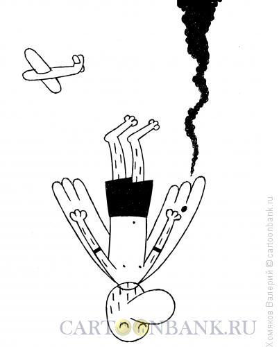 Карикатура: Самолёт и Икар, Хомяков Валерий