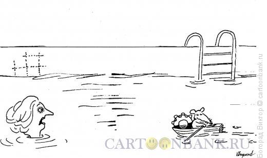 Карикатура: Спасатель, Богорад Виктор