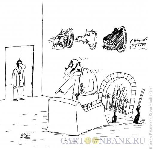Карикатура: Храбрец, Шилов Вячеслав
