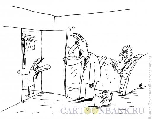 Карикатура: Два козла, Шилов Вячеслав