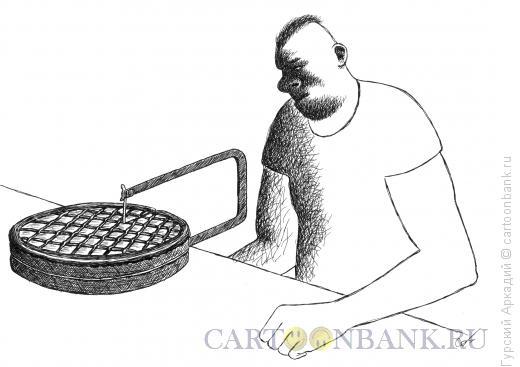 Карикатура: торт и лобзик, Гурский Аркадий