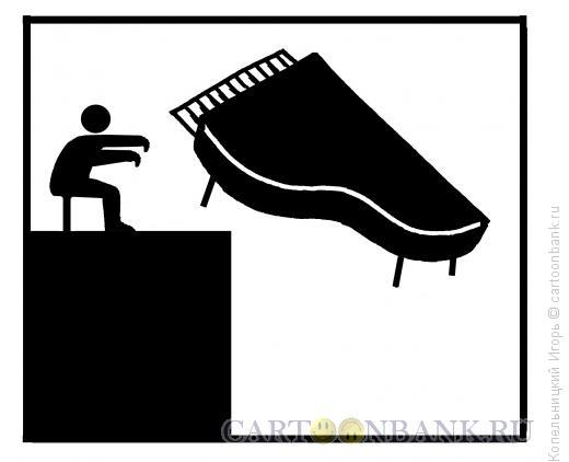 Карикатура: рояль, Копельницкий Игорь