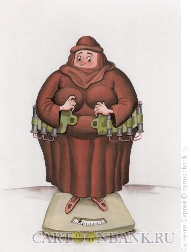Карикатура: Шахидка, Сыченко Сергей