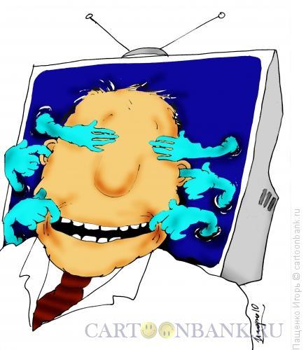 Карикатура: телевизор, Пащенко Игорь