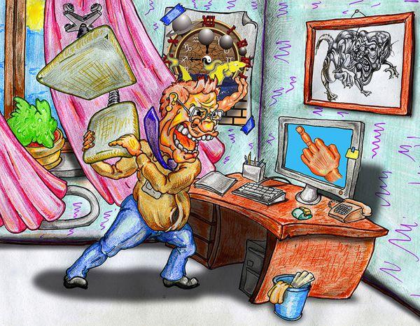 Карикатура: опять вирус, Дмитрий Субочев