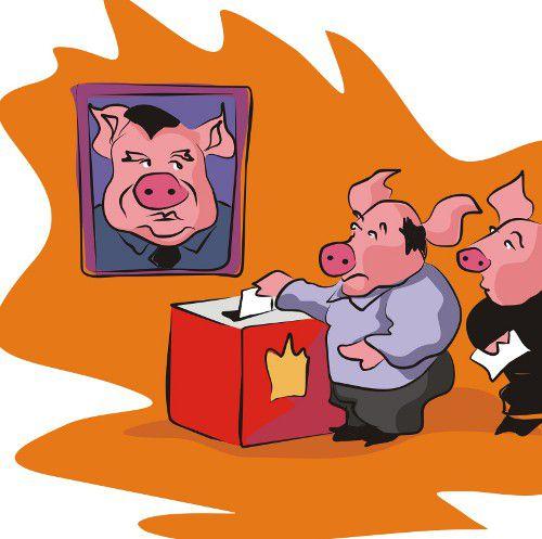 Карикатура: Выборы админ ресурс., владимир ву