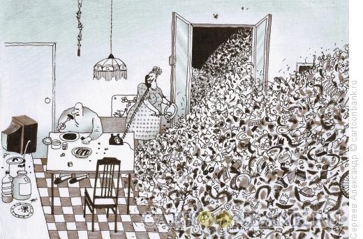 Карикатура: Экология, Сергеев Александр