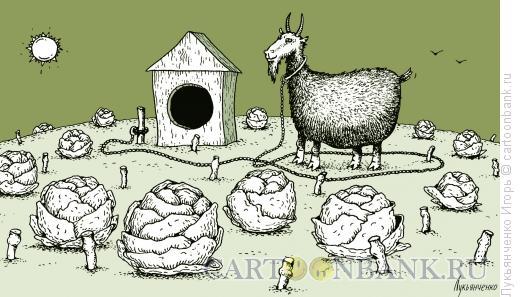 Карикатура: Сторож, Лукьянченко Игорь
