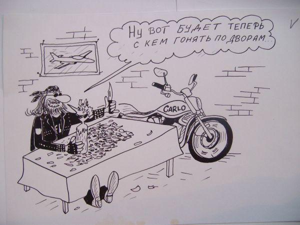 Карикатура: Буратино и Карло, Петров Александр