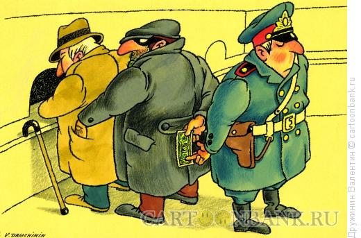 Карикатура: По цепочке, Дружинин Валентин