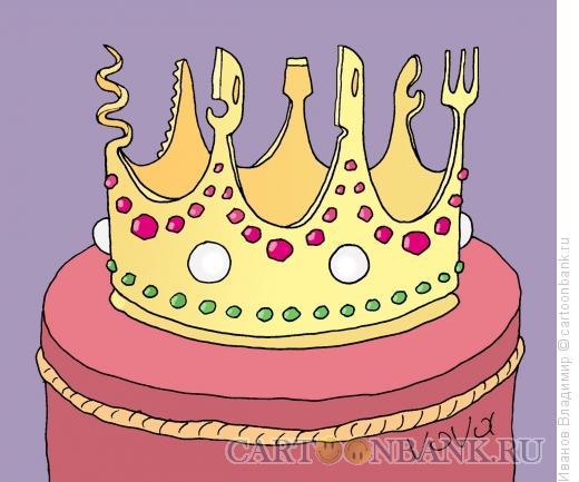 Карикатура: Швейцарская корона, Иванов Владимир