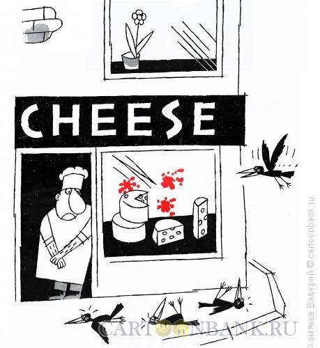 Карикатура: Скажите: Чииз, Хомяков Валерий