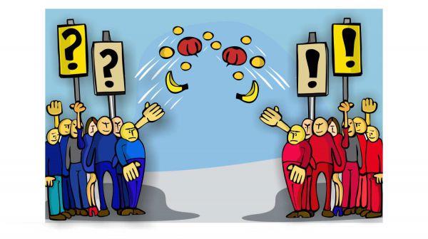 Карикатура: Противостояние, somnambula