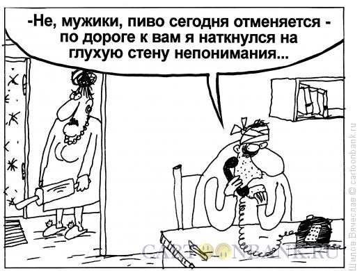 Карикатура: Стена, Шилов Вячеслав