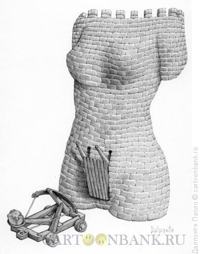 Карикатура: замок-женщина, Далпонте Паоло