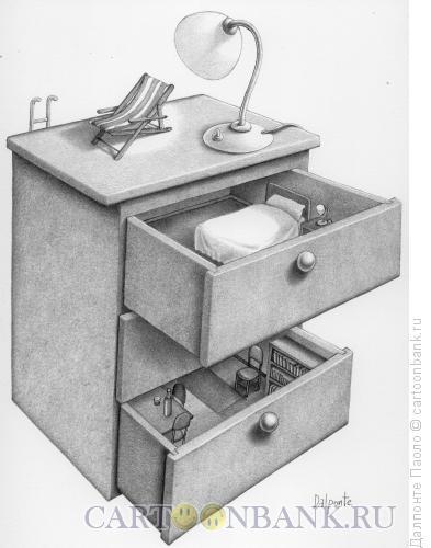 Карикатура: Комод-дом, Далпонте Паоло
