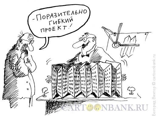 Карикатура: Гибкий проект, Богорад Виктор