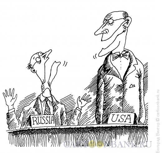 Карикатура: На переговорах, Богорад Виктор