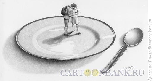 Карикатура: Гастрономия и туристы, Далпонте Паоло