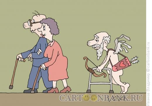 Карикатура: Пожилой амур, Иванов Владимир