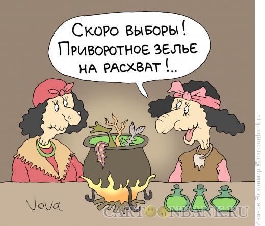 Карикатура: Предвыборное зелье, Иванов Владимир