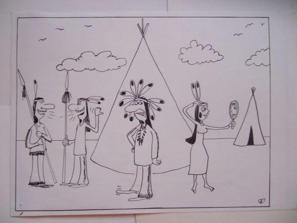 Карикатура: Вожди и жены, Петров Александр