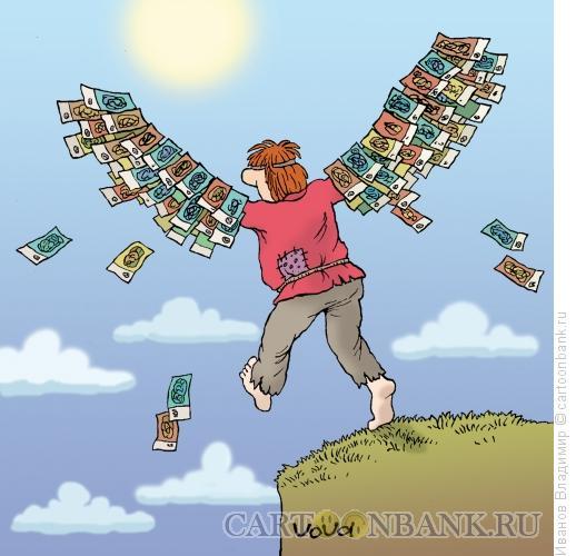 Карикатура: Российский Икар, Иванов Владимир