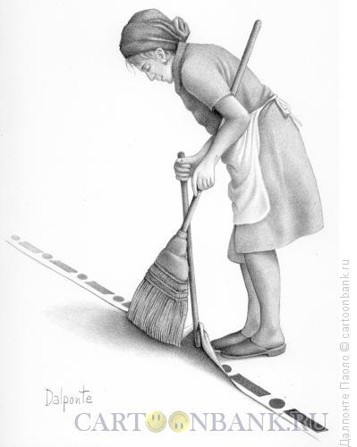 Карикатура: Мусор за границу, Далпонте Паоло