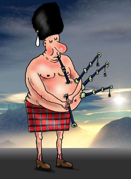Карикатура: Пивной животик, Тарасенко Валерий
