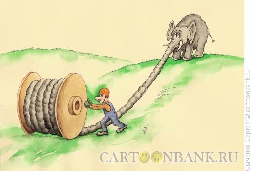 Карикатура: Хобот, Сыченко Сергей