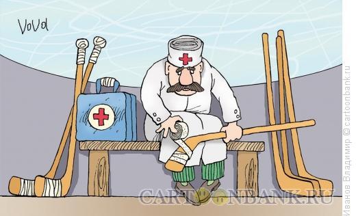 Карикатура: Скучающий доктор, Иванов Владимир