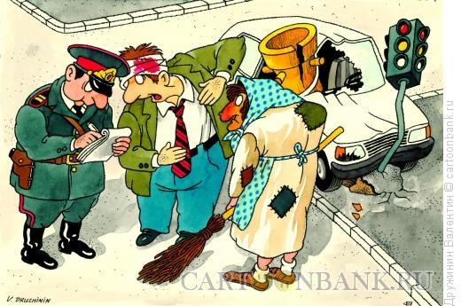 Карикатура: ДТП, Дружинин Валентин