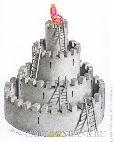 Карикатура: Круглый замок, Далпонте Паоло
