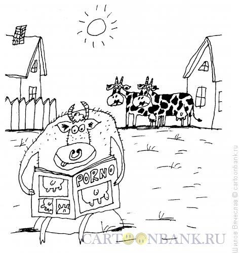Карикатура: Любитель порно, Шилов Вячеслав