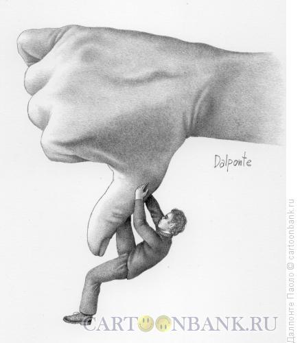 Карикатура: Палец вниз, Далпонте Паоло