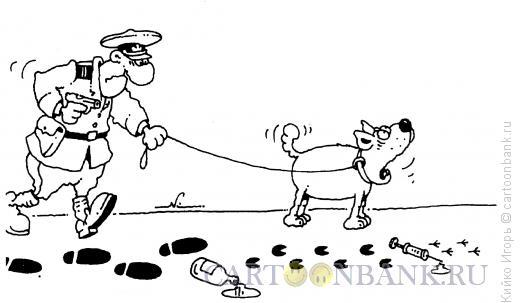 Карикатура: Потерянный след, Кийко Игорь