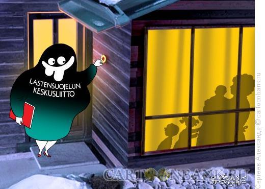 Карикатура: Неожиданный визит, Сергеев Александр