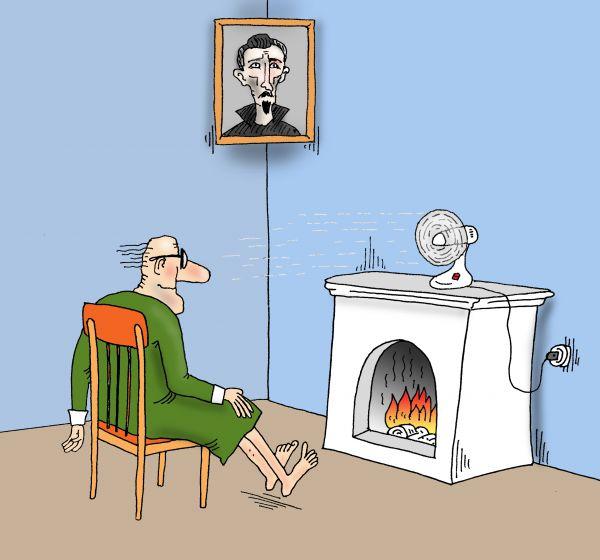 Карикатура: Чекист на пенсии, Тарасенко Валерий