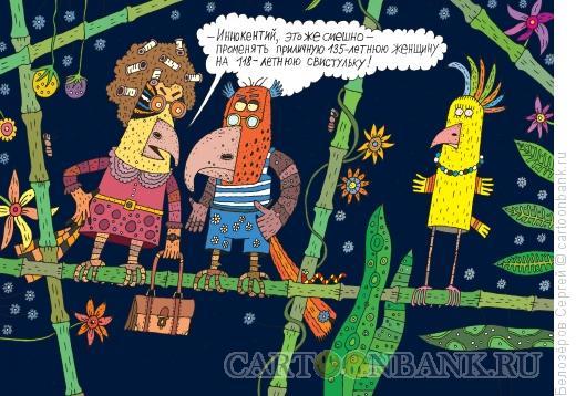 Карикатура: Попугаи, Белозёров Сергей