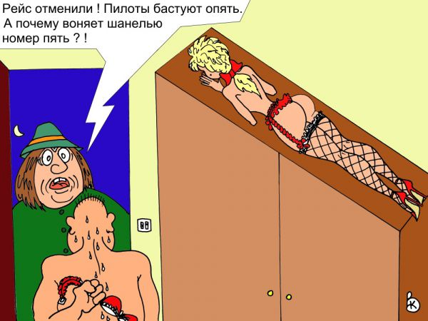 Карикатура: Авиация подвела, Валерий Каненков