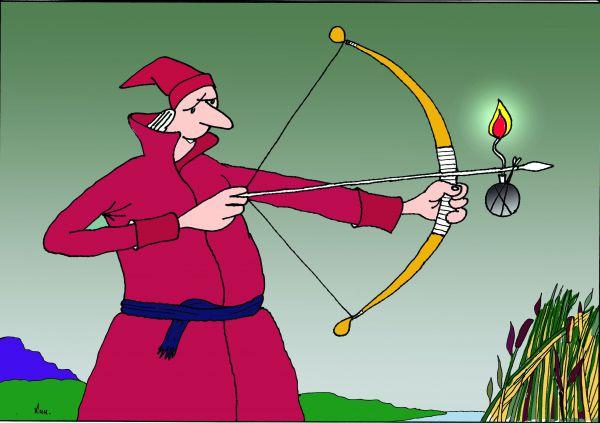 Карикатура: Иван-Царевич раздумал жениться, Николай Кинчаров