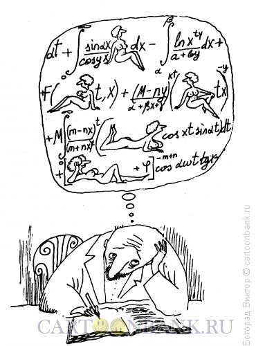 Карикатура: Мысли, мысли..., Богорад Виктор