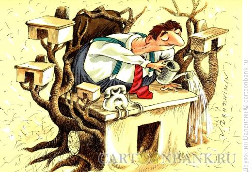 Карикатура: Размножение, Дружинин Валентин