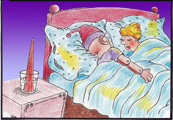 Карикатура: Чтобы нос не мешал, Николай Кинчаров